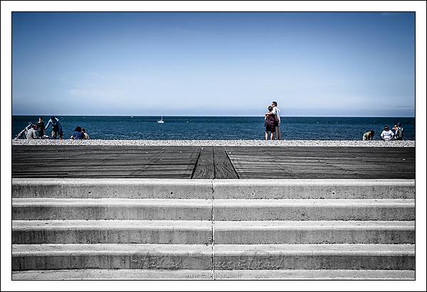 L'escalier plage de Fécamp