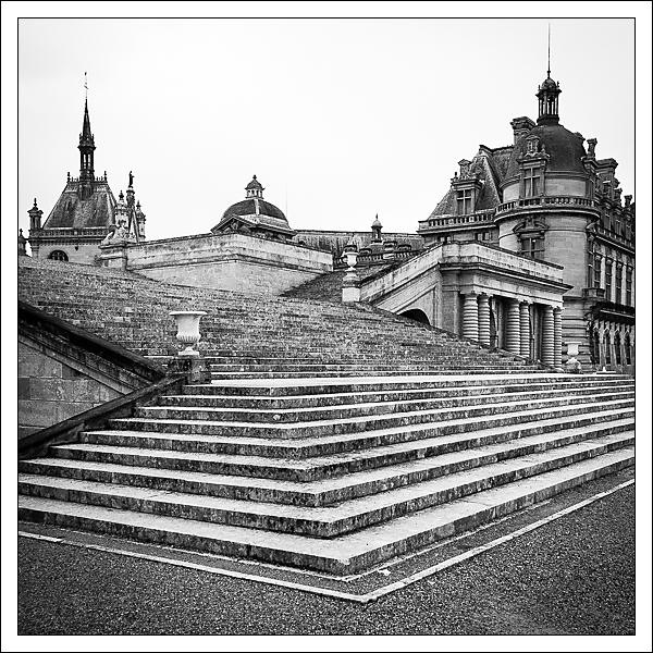 Escalier du château de Chantilly