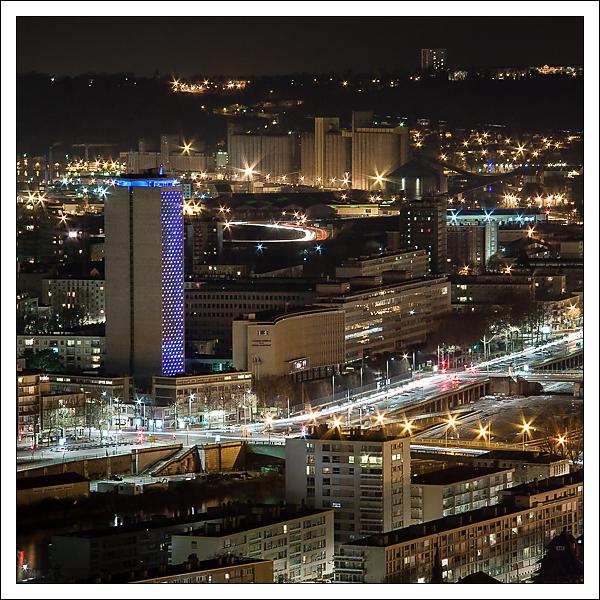 La tour des archives, Rouen nocturne.