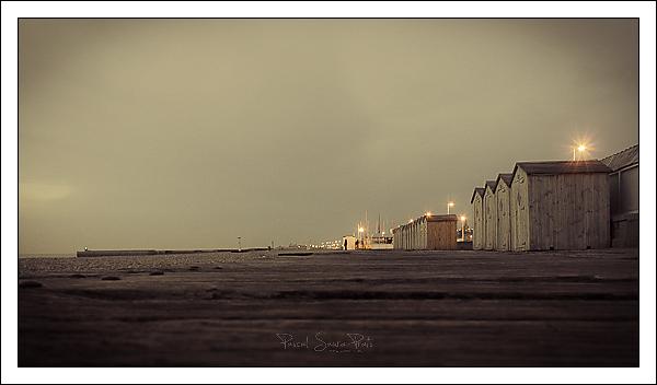 Cabanes de plage à Dieppe