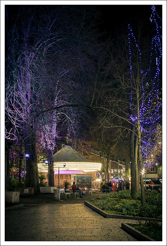 Noël sur la place René Goblet, Amiens.
