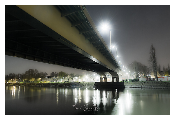 rouen, Pont mathilde nocturne